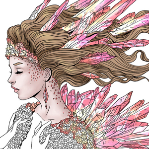 line artsy purchase fantasy crystal adult coloring page