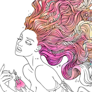 line artsy purchase perfume adult coloring page