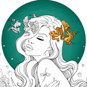 line artsy purchase pisces adult coloring page
