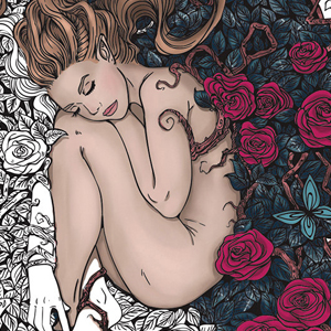 line artsy purchase rose adult coloring page