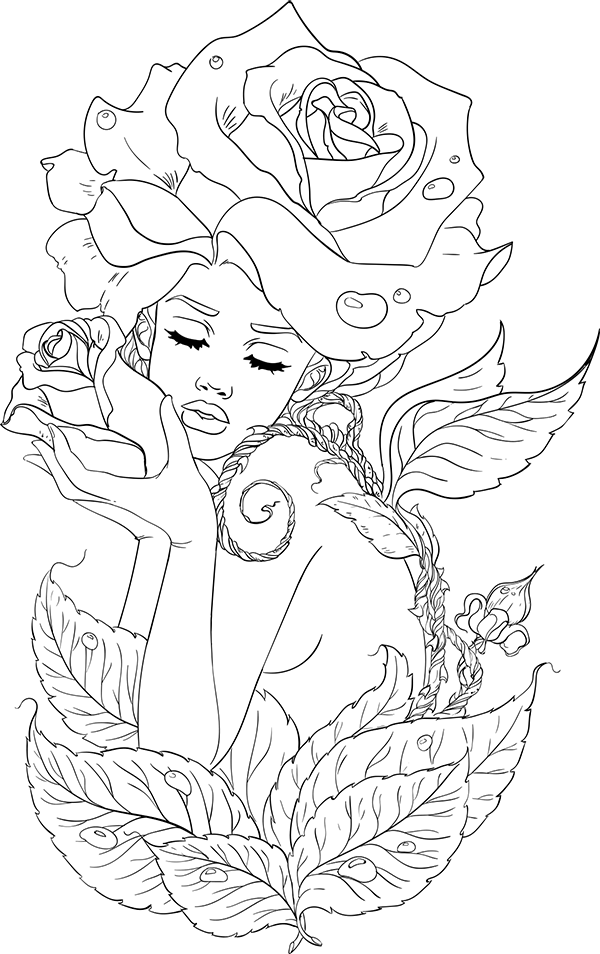 Free Adult Coloring Pages Printable PDF for Stress Relief - Line Artsy ...