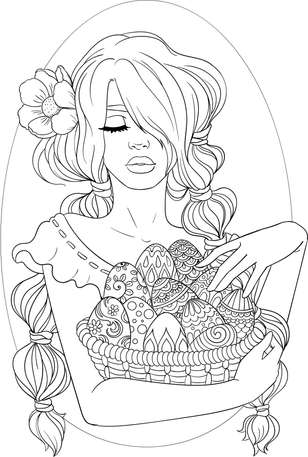 lineartsy free adult coloring page easter lined
